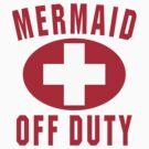 Mermaid Off Duty Red by David Ayala