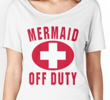 Mermaid Off Duty Red Women's Relaxed Fit T-Shirt
