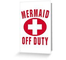 Mermaid Off Duty Red Greeting Card
