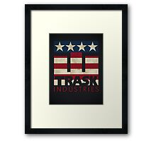 Trask Industries - Vintage Flag Framed Print