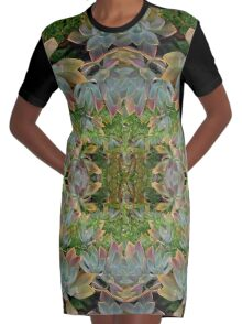 Succulent lovers gifts green Graphic T-Shirt Dress