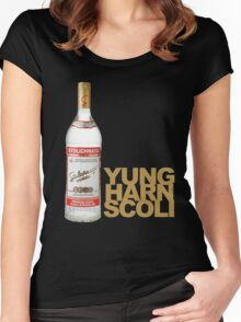 YUNG HURN Women's Fitted Scoop T-Shirt