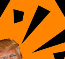 DANGER - Explosive Caution Trump Sticker Sticker