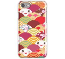 Smiling Fans Yellow and Brown iPhone Case/Skin