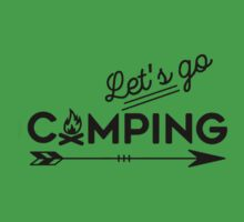 lets go camping Kids Tee