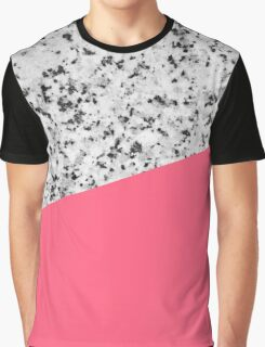 Granite and Pink Graphic T-Shirt