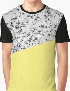 Granite and Banana Yellow Graphic T-Shirt