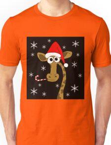 Christmas giraffe Unisex T-Shirt