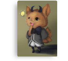 Fein the Villain Feline Canvas Print