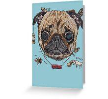 Les Pug Greeting Card