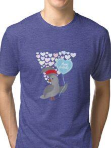 Parrot Birthday Card Tri-blend T-Shirt