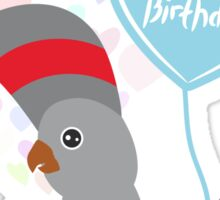 Parrot Birthday Card Sticker