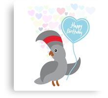 Parrot Birthday Card Canvas Print