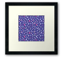 Blue Funny Drops Framed Print