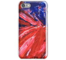 Red Abstract 1 iPhone Case/Skin