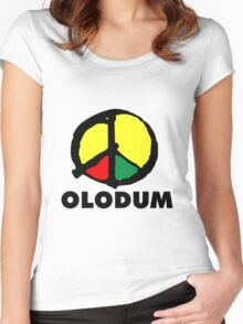 Olodum Brazilian Culture Logo Women's Fitted Scoop T-Shirt