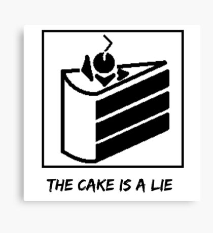 The Cake is a Lie ;( Canvas Print