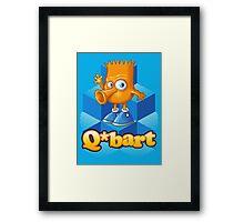 Q-bart Framed Print