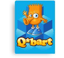 Q-bart Canvas Print