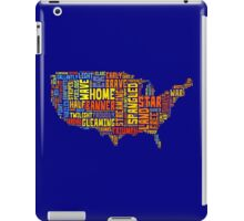 United States of America Map Star Spangled Banner Typography iPad Case/Skin