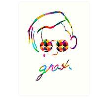 Gnash Colorized Logo Art Print