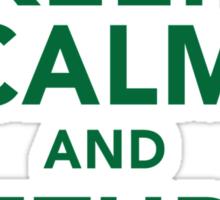 Funny 'Keep Calm and Return Fire' Machine Gun T-Shirt Sticker