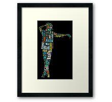 Michael Jackson Typography Poster Bad Framed Print