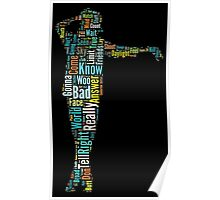 Michael Jackson Typography Poster Bad Poster