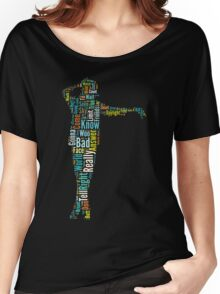 Michael Jackson Typography Poster Bad Women's Relaxed Fit T-Shirt