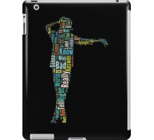 Michael Jackson Typography Poster Bad iPad Case/Skin