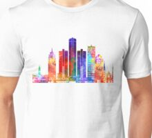 Detroit landmarks watercolor poster Unisex T-Shirt