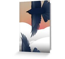 As the Crow Flies Greeting Card