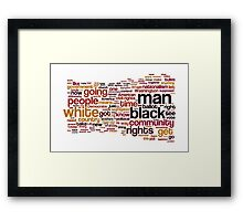 The Ballot or the Bullet by Malcolm X Framed Print