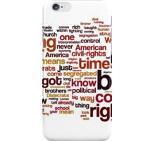 The Ballot or the Bullet by Malcolm X iPhone Case/Skin