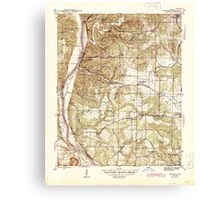 USGS TOPO Map Arkansas AR Bethesda 259937 1942 31680 Canvas Print