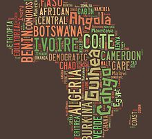 Africa Typography Map All Countries by Florian Rodarte