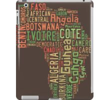 Africa Typography Map All Countries iPad Case/Skin