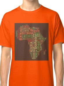 Africa Typography Map All Countries Classic T-Shirt