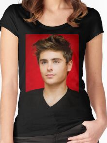 HANDSOME ZAC EFRON Women's Fitted Scoop T-Shirt