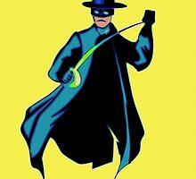 Zorro Pop Art by Florian Rodarte