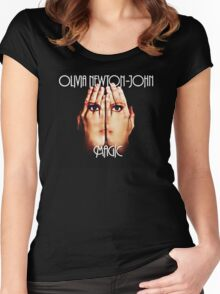 OLIVIA NEWTON JOHN Women's Fitted Scoop T-Shirt