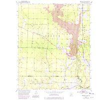 USGS TOPO Map Arkansas AR Bradley SE 258045 1952 24000 Photographic Print