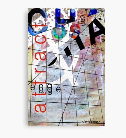 David Carson Chaos Typography Canvas Print
