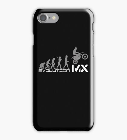 Funny Evolution De Motocross iPhone Case/Skin