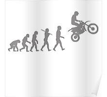 Funny Evolution De Motocross Poster
