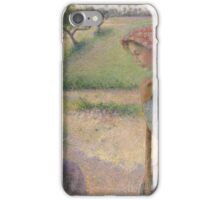 Two Young Peasant Women ,  Camille Pissarro iPhone Case/Skin