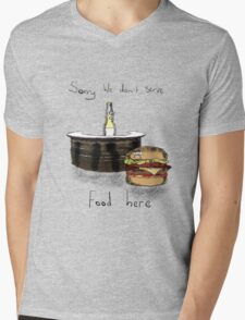 We Don't Serve Food Mens V-Neck T-Shirt