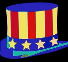 Uncle Sam Hat Pop Art by Florian Rodarte