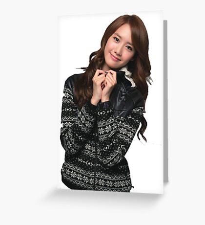 YOONA SNSD Greeting Card
