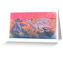 Two Dragons Greeting Card